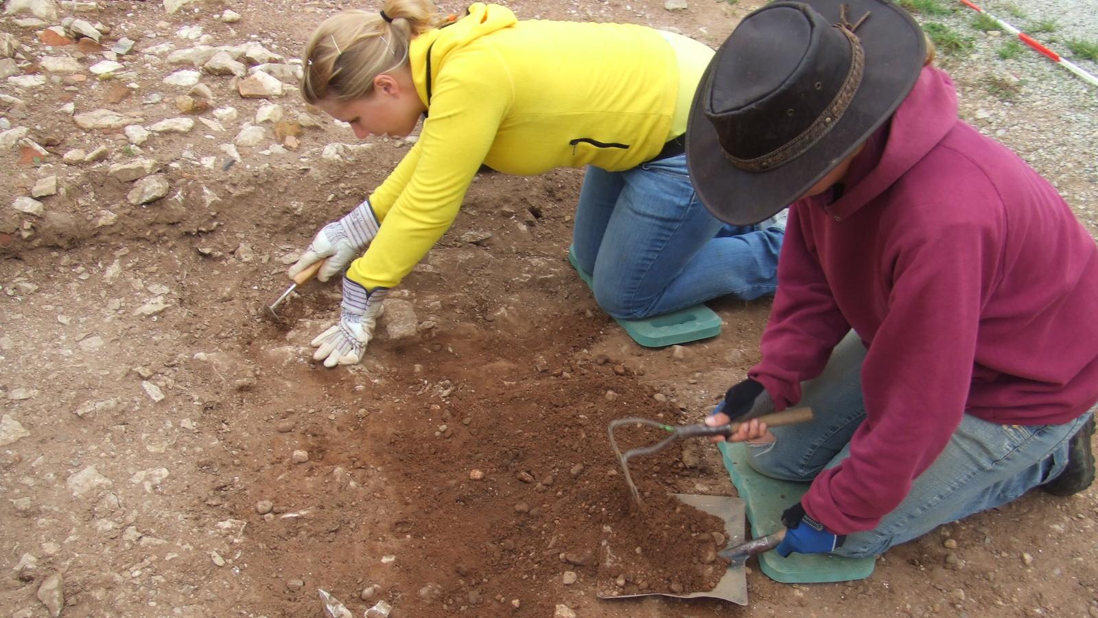 Grabung im Gelände des Kulturparks
